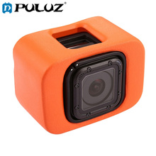 PULUZ Soft Case For GoPro Floaty Case+Backdoor Go Pro HERO5 Session/4 Session Color Orange Cases HERO4