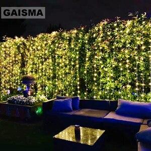 Image 1 - 10 × 5メートル1600電球妖精ledカーテン結婚式ライト装飾クリスマス花輪パーティーホーム新年ホリデー装飾照明
