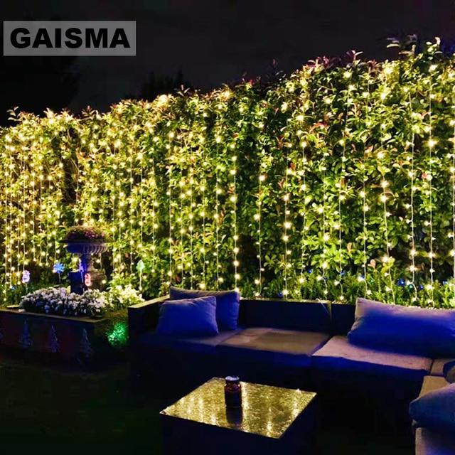 10 × 5メートル1600電球妖精ledカーテン結婚式ライト装飾クリスマス花輪パーティーホーム新年ホリデー装飾照明
