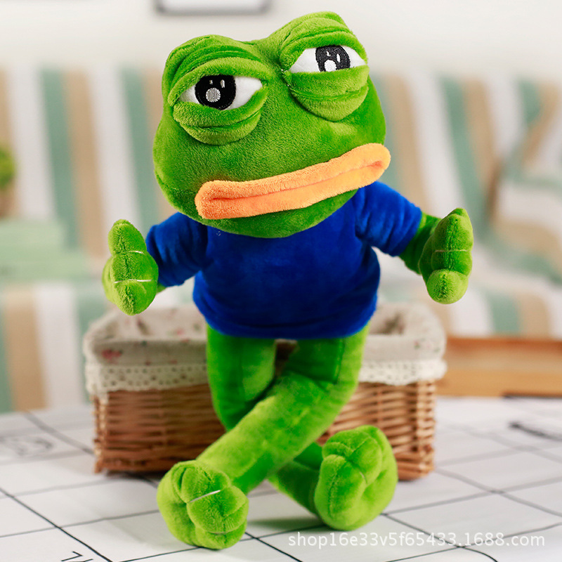 45CM Funny Stuffed Toys For Kermit Kermit the Frog, Plush Toy Sad Frog Doll  Toys Funny Soft Plush Baby Brithday Gift