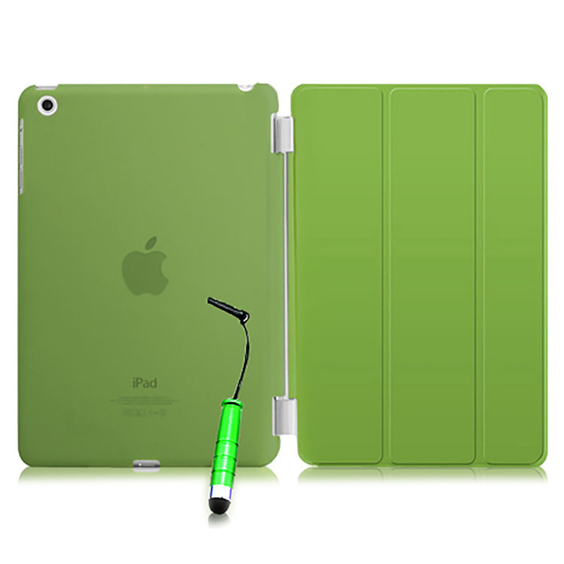 все цены на  New Smart Stand Magnetic Leather Case Cover For Apple iPad Mini 1 2 & 3  colour:Green Translucent  онлайн