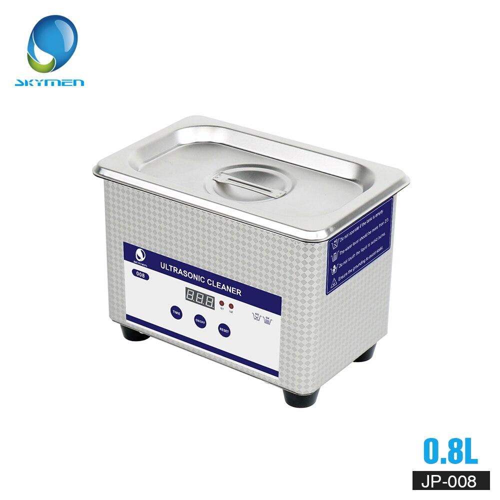 SKYMEN цифровой мини Ультразвуковой очиститель металлическая корзина Стиральная ювелирные часы зубные PCB CD 800 Вт мл 35 Вт 40 кГц очиститель для в...