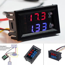 YG 2pcs Auto DC 100 V 10A Voltmeter Ammeter Blue + Red LED Digital Voltmeter Gauge Amp Dual Voltage Current for Home Car Tool(China)