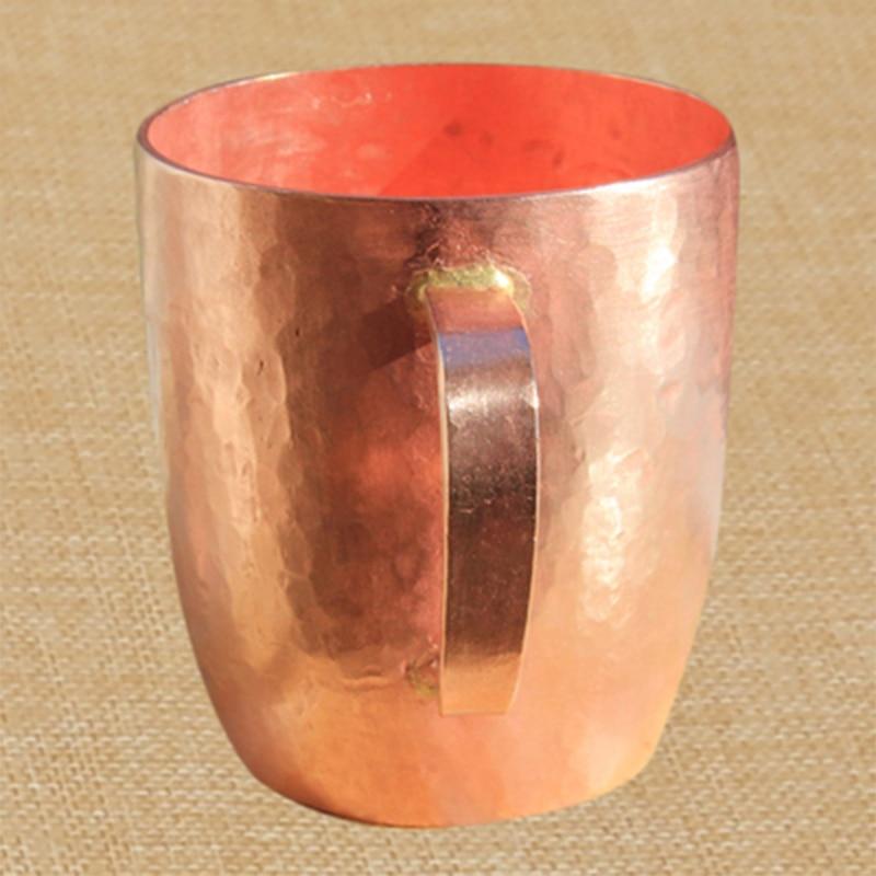 Tasse à thé classique en cuivre pur tasse à thé faite à la main épais solide poli de haute qualité tasses en cuivre rouge artisanal tasse avec couvercle 650 ml-in tasses from Maison & Animalerie    3