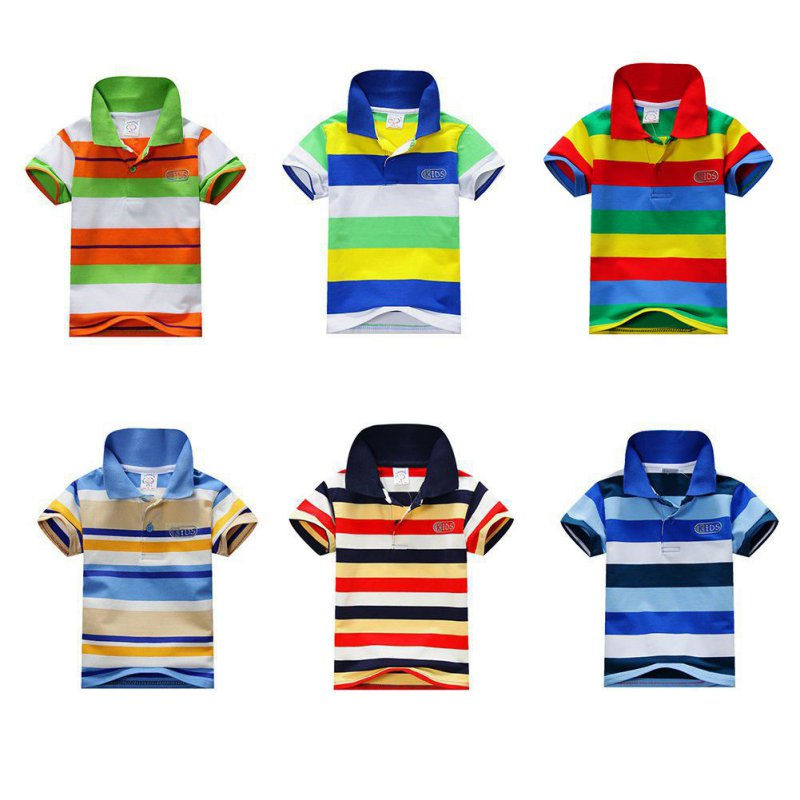 1-7T Children T-shirt Fashion Summer Boy Striped Short Sleeve T-shirt Kids Boys Tee Tops Shirt T-shirt for Boys все цены