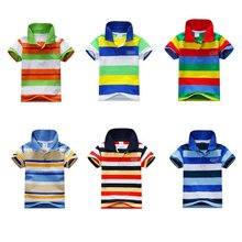 Summer Baby Boys Lyhythihainen T-paita Lapset Topit Striped Polo Shirt Topit Hot Sale Uusi