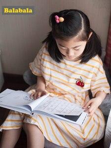 Image 4 - Balabala Girls Dress rękaw motylek maluch dziewczyna sukienka z wycięciem na plecach dzieci dzieci dziewczyna letnia sukienka plażowa z falbanką