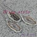 1 unid alta calidad collar de piedra natural, druzy y la piedra del cuarzo pendiente pendiente / collar colgante de piedra para la fabricación de joyas