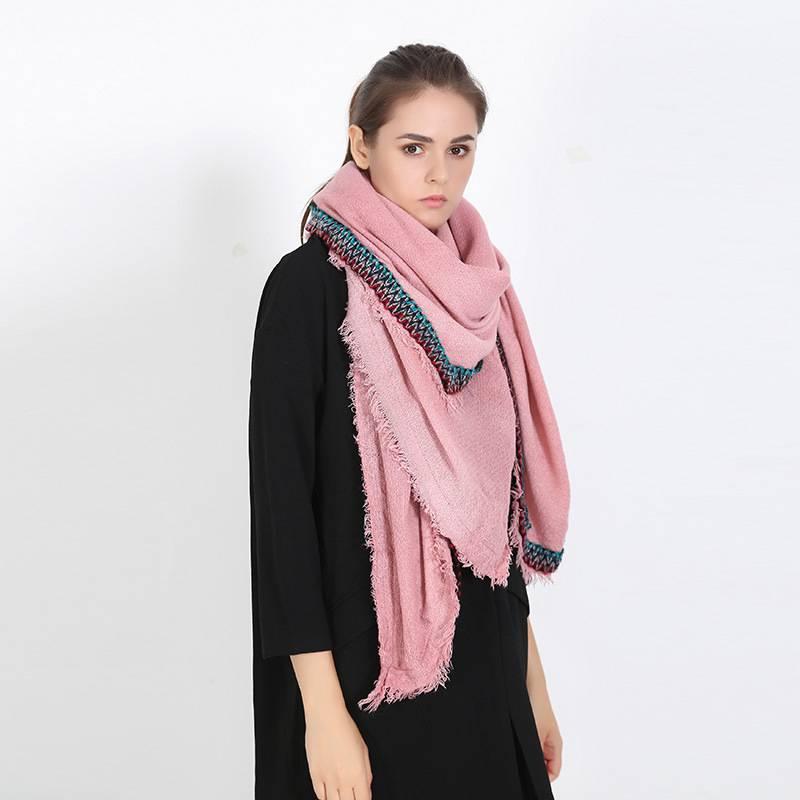 Chic font b Tartan b font Echarpes Foulards Femme Winter Scarf Luxury Brand Blanket Scarf Mujer