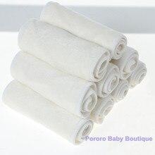 Pororo 4 слоя бамбуковые махровые детские подгузники многоразовые вкладыши 12 шт./лот