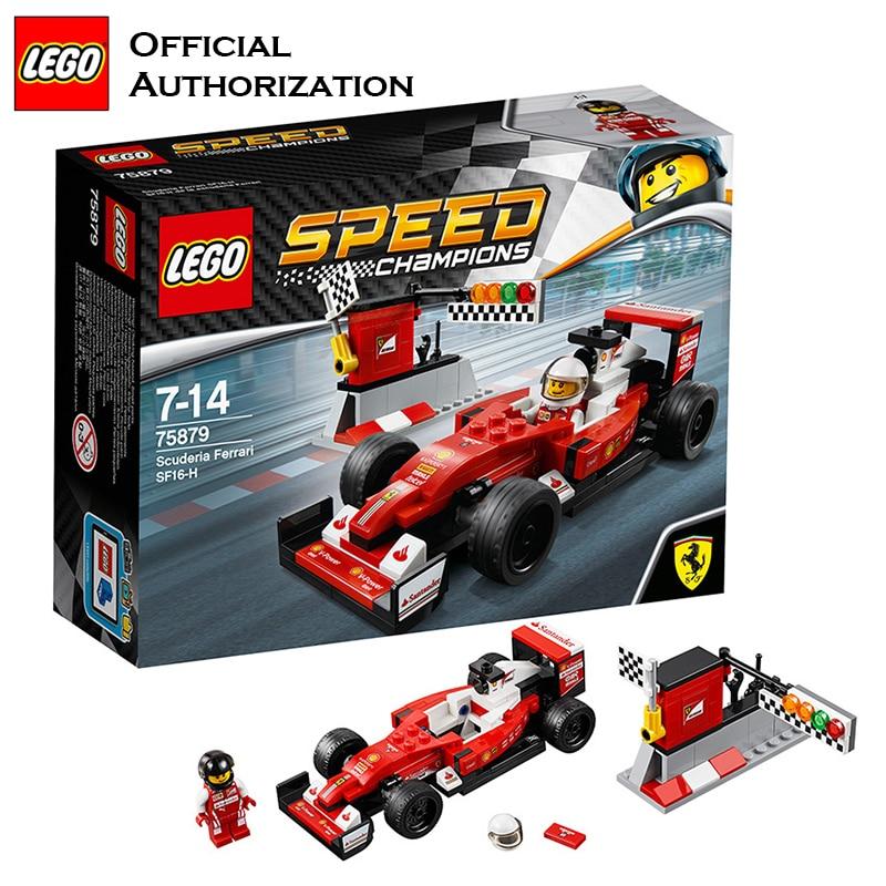 LEGO Self-Locking Bricks DIY Cars <font><b>Puzzle</b></font> Toys Farraril SF16-H Stacking Bloks Toy For Children Speed <font><b>Champions</b></font> Series Brinquedos