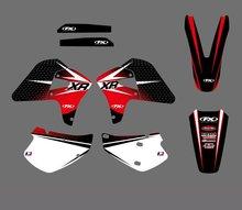 0184 nuevo estilo del equipo gráficos y fondos etiquetas etiquetas kits fit para honda XR 650R 2000 2001 2002 2003 04 05 06 07 08 2009