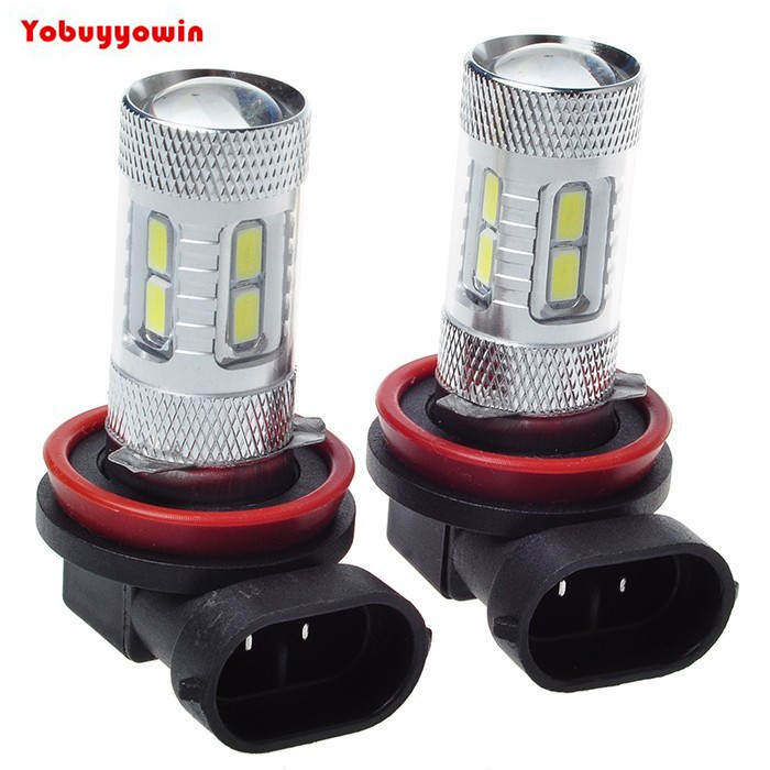 Free Shipping 2PCS /Lot New H11 11W 12SMD 5630SMD Led Car Fog Light Bulb Super White 11W Automotive Car LED Fog Light Lamps new arrival a pair 10w pure white 5630 3 smd led eagle eye lamp car back up daytime running fog light bulb 120lumen 18mm dc12v