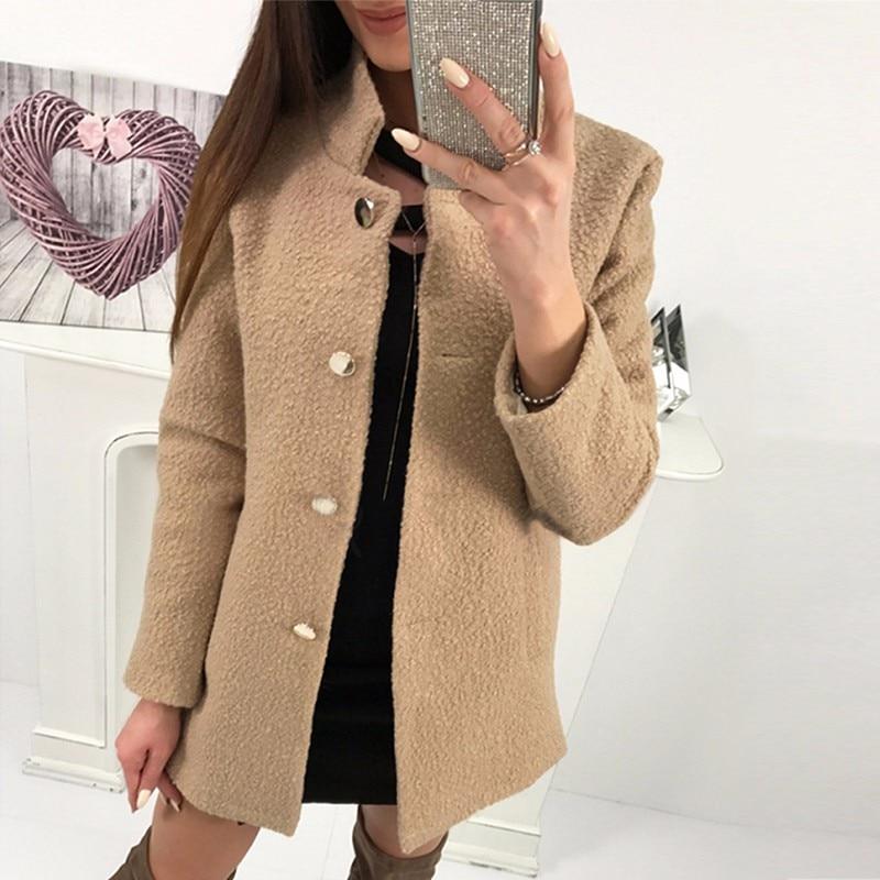 Women Elegant Coat 2018 Autumn Winter Long Sleeve Warm Soft Zipper Jacket Coats Female Plush Overcoat Casual Outerwear