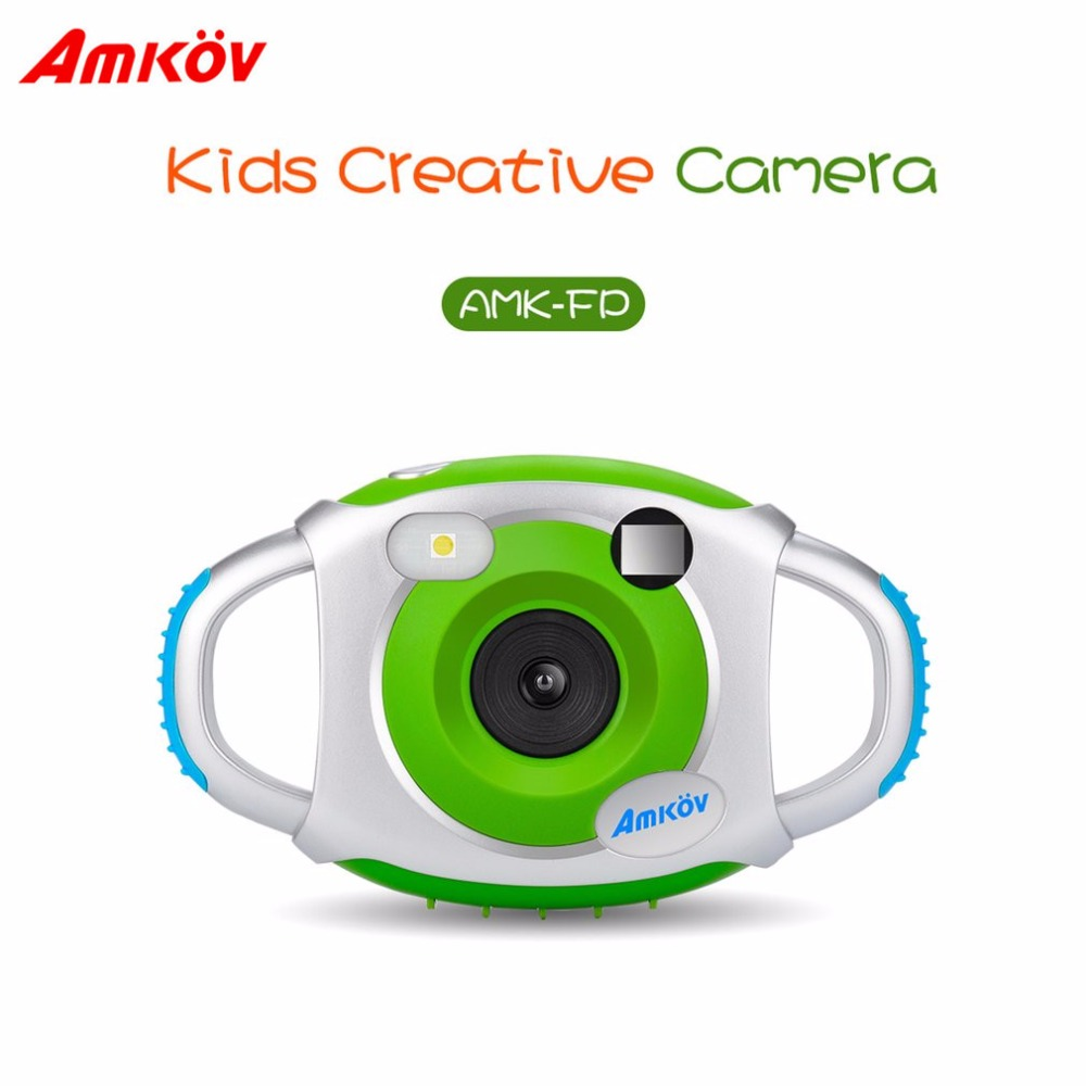 AMKOV-CDFP Nette Kinder 1,5 Zoll 4X Digital Zoom Kamera 5 Megapixel Mehrsprachig Pädagogisches Kamera Fein Kinder Geschenk