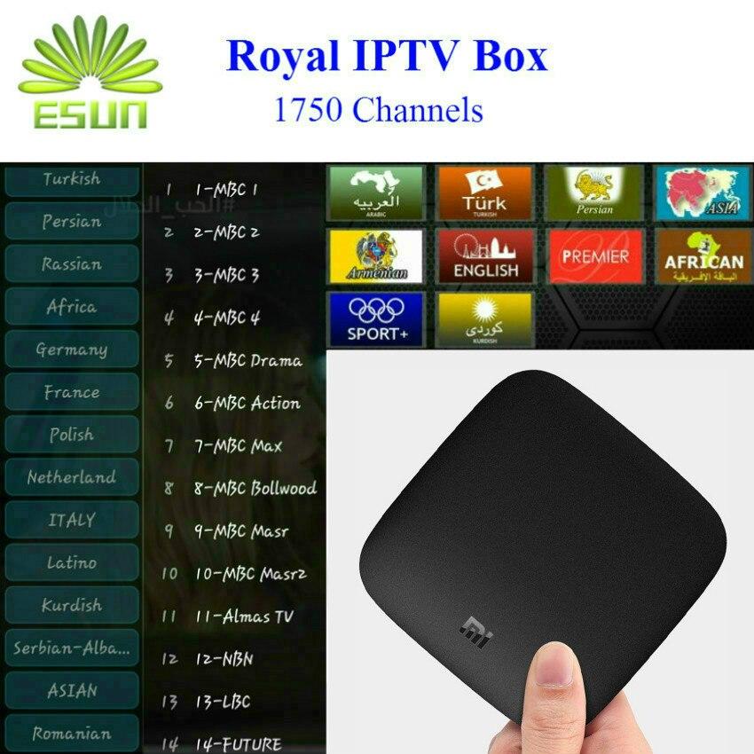 Royal IPTV 1730+ Channels in Offical Version Xiaomi Mi TV Box 3 Android 6.0 4K 8GB Multi-language Arabic IPTV Europe IPTV nirmal singh japinder kaur and amteshwar s jaggi k channels in cerebroprotective mechanism of ischemic postconditioning