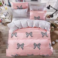 New Fashion Bedding Set 4pcs Duvet Cover Sets Soft Polyester Bed Linen Flat Bed Sheet Set Pillowcase Home Textile Drop Ship