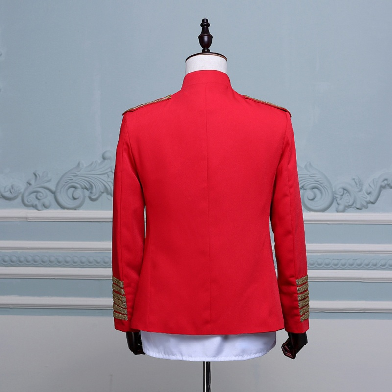 bed9abab0b64 Aliexpress.com : Buy Hussar Jacket Artillery Tunic Military Uniform Drummer  Steampunk Black Red 903 855 from Reliable military tunic suppliers on  BigBlack