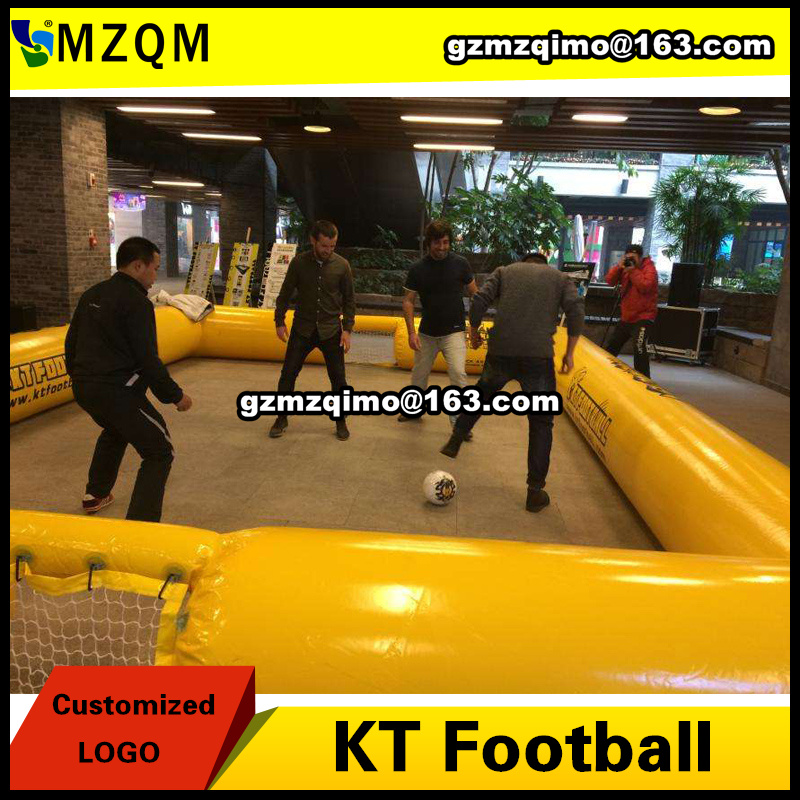 DDU free shipping new design inflatable football field, KT football field for sale, cheap inflatable soccer field on sale cheap portable small inflatable water soccer football field for kids