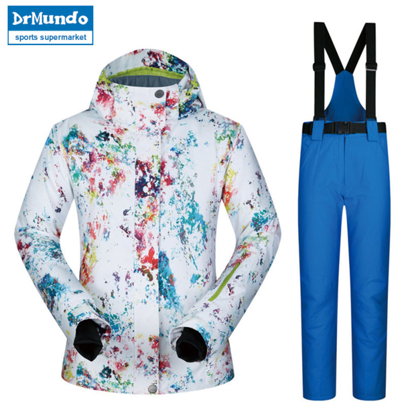 2018 New High Quality Women Snowboarding Suits Windproof Waterproof Warmth Breathable Winter Ski Jacket And Pants skiing2018 New High Quality Women Snowboarding Suits Windproof Waterproof Warmth Breathable Winter Ski Jacket And Pants skiing