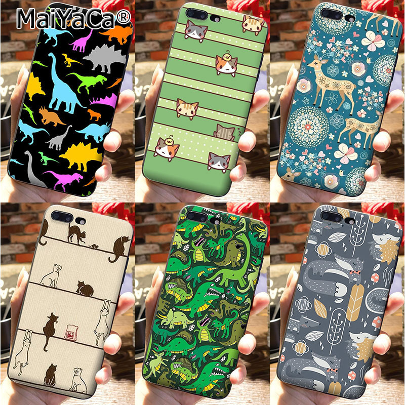 MaiYaCa On Sale Luxury Cool Phone Accessories Case cover For iPhone 7 plus Case many animals dinosaur deer dogs