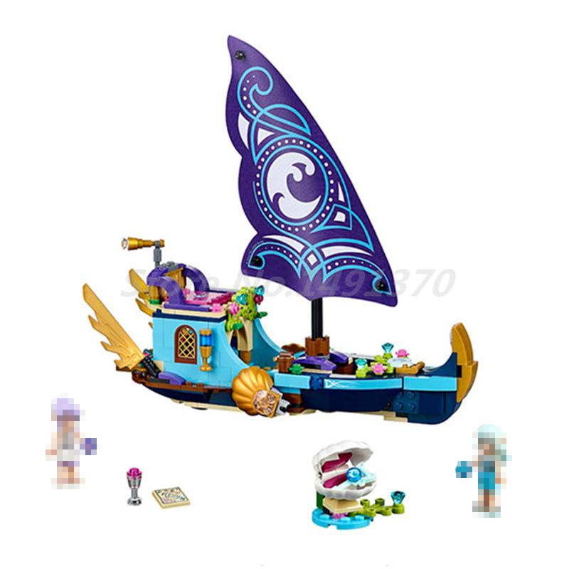 BELA 10411 Building Blocks Elves Naldas Epic Adventure Ship 41073 Model Sets Bricks Educational Toys For Children Gifts