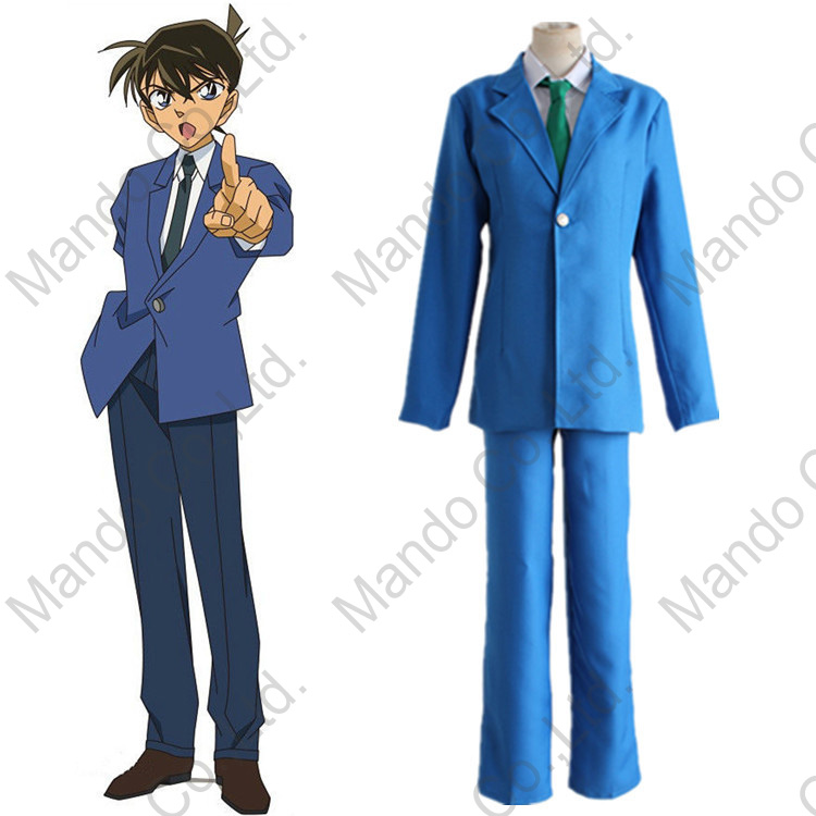 Anime Detective Conan Case Closed Kudou Shinichi Cosplay Costumes Mens school uniform su ...