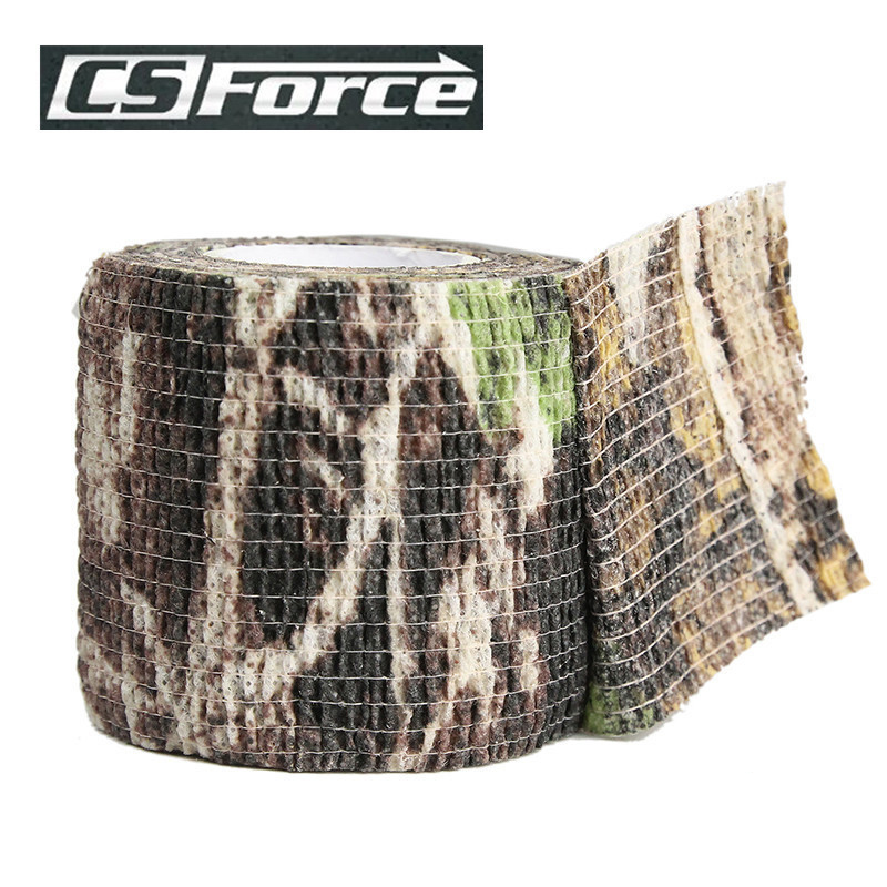 4pcs/lot Elastic Stealth Tape Hunting Military Camouflage Tape Airsoft Paintball Gun Rifle Shooting Stretch Bandage Camo Tape
