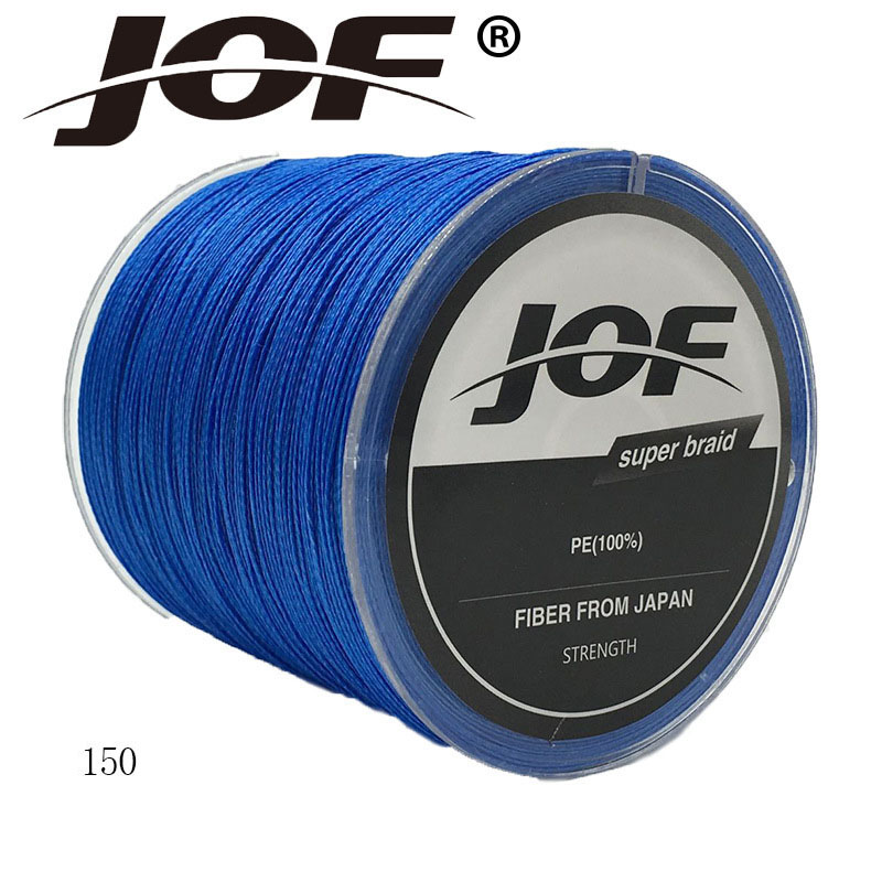 JOF 150M 8 Strands Japan PE Braided Fishing Line Multifilament Fishing Wire For All Fishing 13-200lb