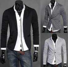 Праздник продать новое поступление пиджак мужчины Вязание маленький костюм весна 2015 мужские пиджак куртка Slim Fit пиджаки Повседневная брендовая мужская