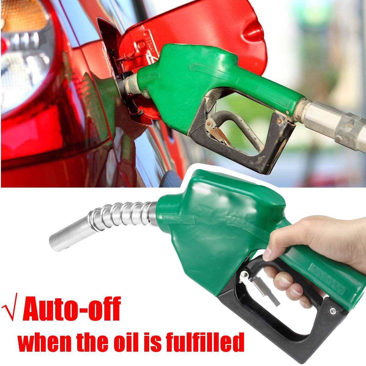 Stainless Steel Refilling Nozzle Gun Automatic Cut Off Fuel Refilling Nozzle Diesel Oil Dispensing Tool Oil Water Refueling Gun