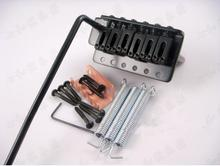 QHX black guitar bridge Guitar Parts 6 Strings Electric Guitar Bridge Musical instruments accessories