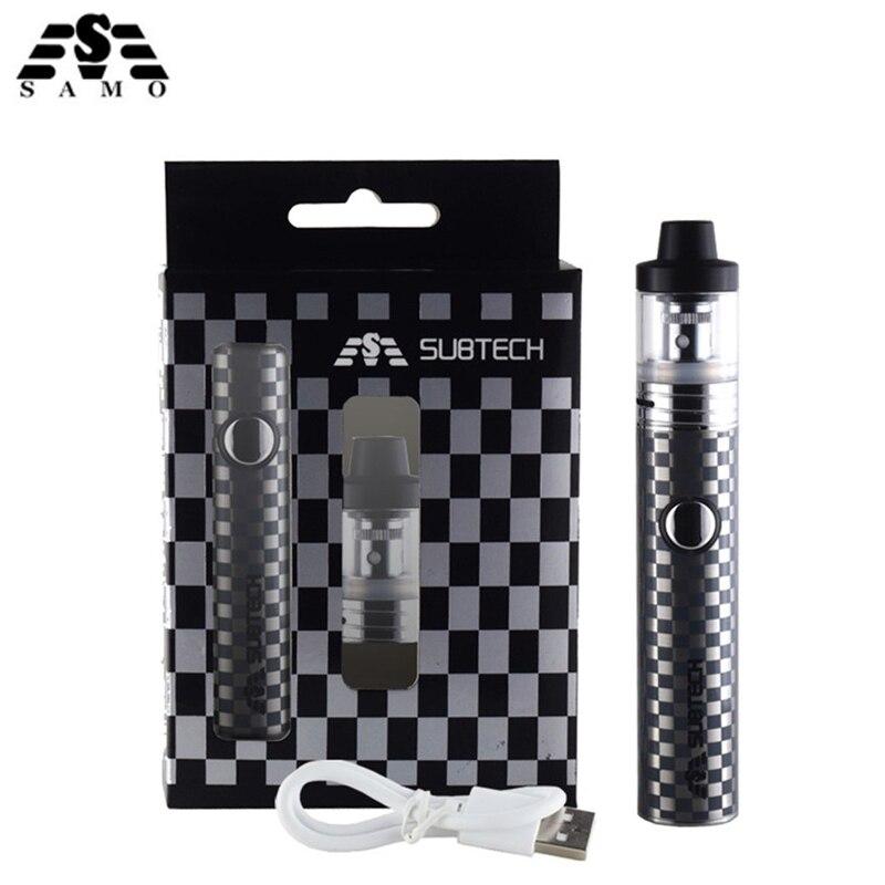 NEW Original S22 Electronic cigarette vaper kit with 2ml atomizer 1800mah battery 0.3ohm 0.5ohm control vaporizer vape pen kit