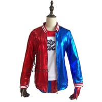 Hot Movie Suicide Squad Harley Quinn Uniform Cosplay Party Costume Clothing Christmas Halloween Anime Coat Jacket