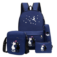 Fashion Cat Printing Backpacks For Teenage Girls Schoolbag Korean Rucksack Unisex Shoulder School Backpack Mochila High