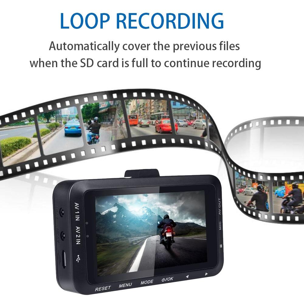 Fodsports 3 Inch DV168  Motorcycle DVR Motorbike Video Recorder 2