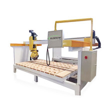 CNC Stone Cutting Machine,Marble Granite Ceramic Bridge Saw Cut Machine 5 Axis, Kitchen Countertops Edge Polishing Machine