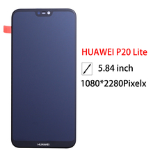 2280*1080 di Qualità AAA LCD Con Cornice Per HUAWEI P20 Lite Lcd Screen Display Per HUAWEI P20 Lite ANE LX1 ANE LX3 Nova 3e