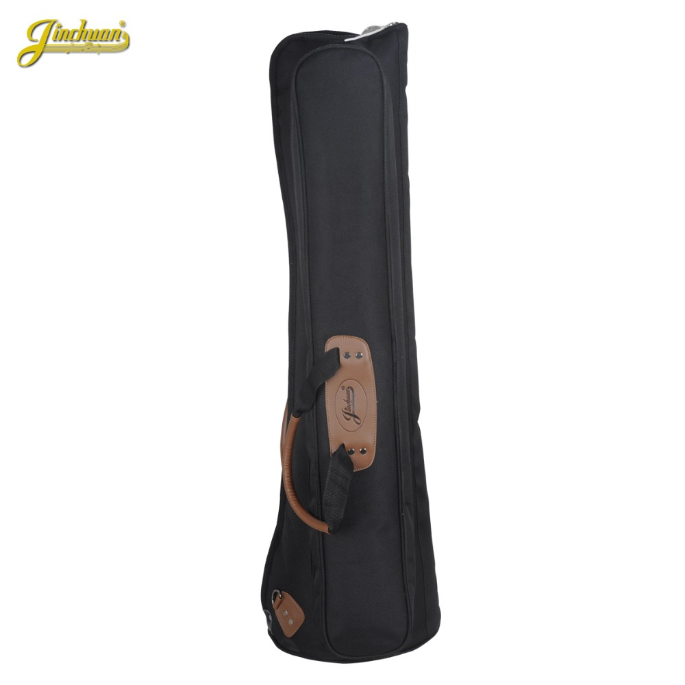 90*27cm Wholesale Professional luxury portable tenor trombone bass bag gig soft case backpack shoulder straps padded cover 2 pcs of new tenor trombone gig bag lightweight case black
