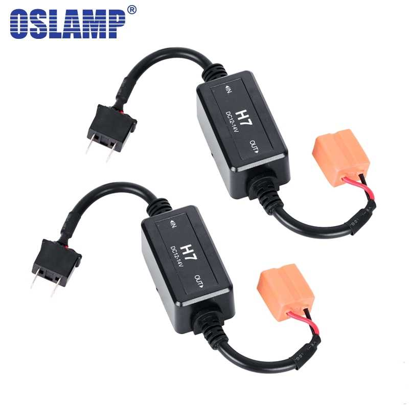 Oslamp H7 Canbus Wiring Harness Adapter LED Car Headlight Bulb Headlamp Led Light CANBUS Decoder Resistor Wire Harness Adapter