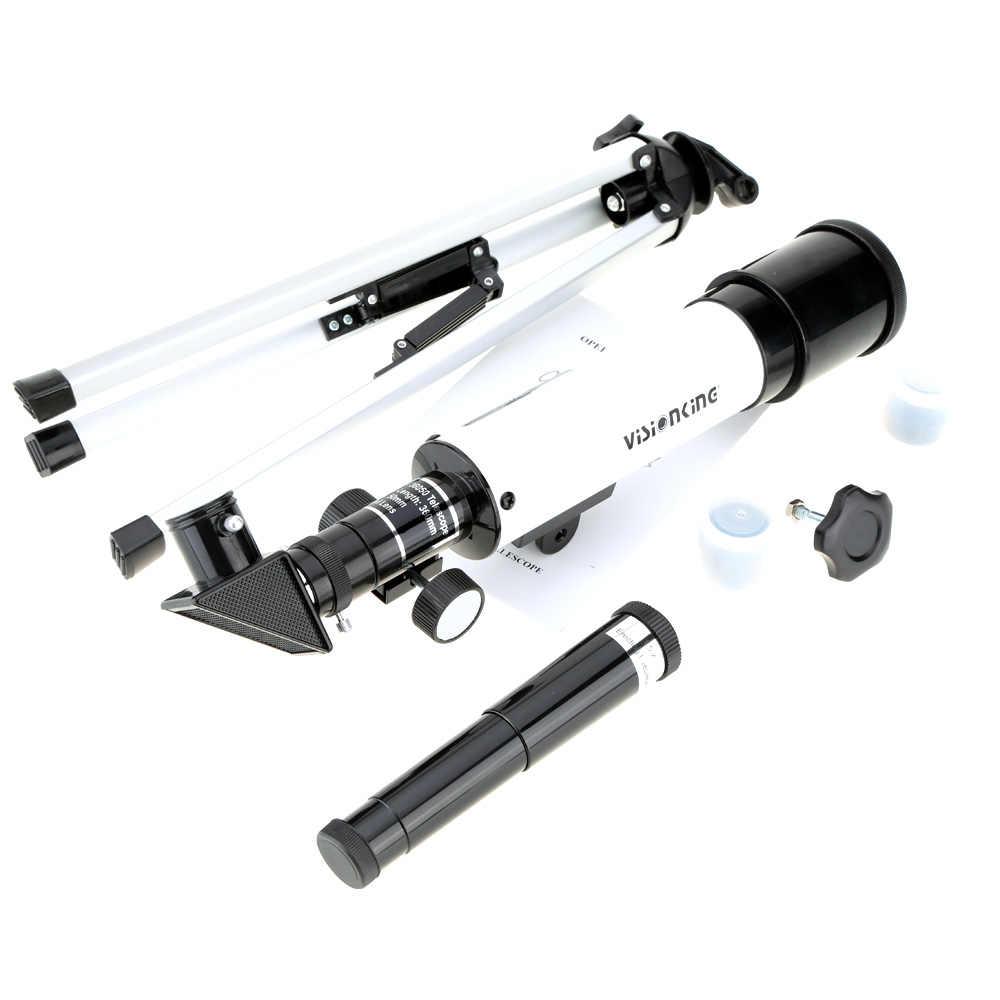 Telescópio monocular visionking espaço astronômico telescópio 360/50mm monocular ao ar livre refrator escopo com tripé portátil