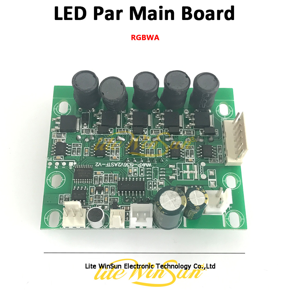 Litewinsune Freeship Motherboard LED Par 54 3W RGBWA Main Board Display Board Parts Par LED Stage