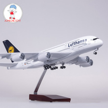 1/160 Scale 50.5CM Airplane Airbus A380 Lufthansa Airline Model Germany Airplane Diecast Plastic Resin Plane For Collection 36cm a380 qatar airlines airbus model qatar international aviation airways resin aircraft model airplane a380 plane model gift