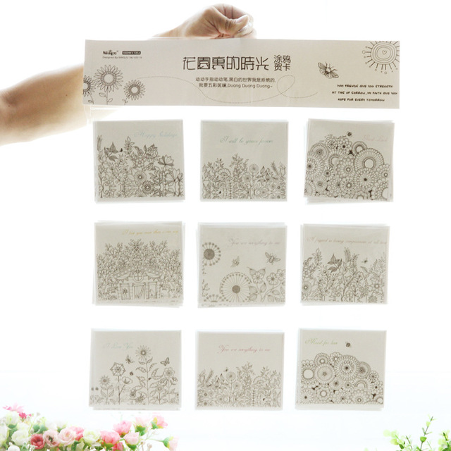 10pcs G90 Korean stationery wholesale garden, time greeting cards, new manufacturers, direct greeting cards, custom made
