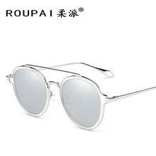 2017 Nuevas Gafas de Sol de Las Señoras gafas de Sol de Tendencia gafas de sol Polarizadas gafas de Sol de Moda Colorida Redonda Gafas De Sol Mujer Al Por Mayor RP012