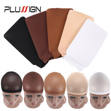 Beige Brown Black Wig Cap Stocking Net For Hairs Invisible Hair Nets Stocking Wig Cap Stretchy Nylon Close End Wig Cap 2Pcs(China)