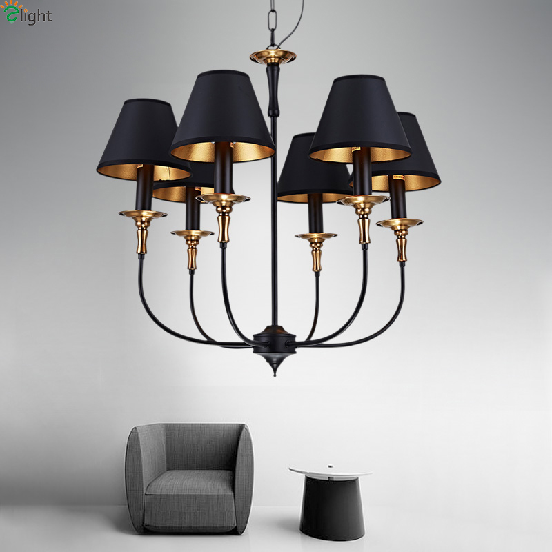 Retro Iron Led Pendant Chandeliers Light Lustre Copper Dining Room Led Chandelier Lighting Living Room Hanging Lights Fixtures modern lustre blue glass led chandeliers lighting copper living room led pendant chandelier lights dining room led hanging light