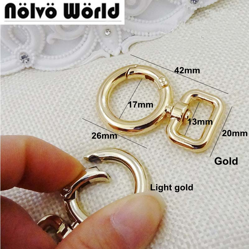 30pcs 4 colors  square shape Keyfob clasp metal hook,Lobster Clasps Accessories For Handbags Bags' Long Strap Wholesale