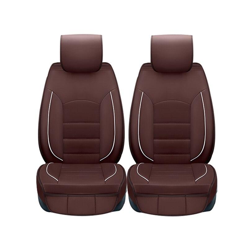 (Only 2 front) leather car seat <font><b>covers</b></font> for <font><b>Hyundai</b></font> i30 ix35 ix25 Elantra Santa Fe Sonata Tucson 2016 Solaris Styling accessories