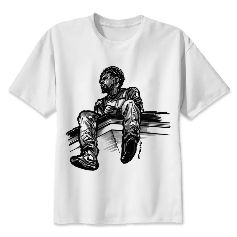 j cole T shirt men t shirt fashion t-shirt O Neck white TShirts For man Top Tees MR4290